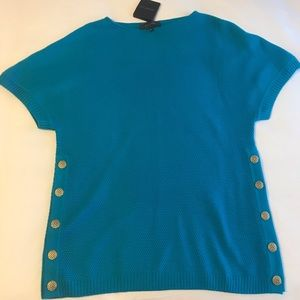 St. John black label sweater top, M